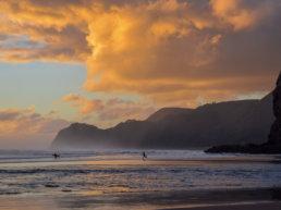 Beach, Surfers, New Zealand